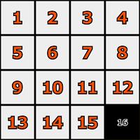 順番に並び替えるパズルゲーム|15パズル