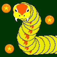 餌を全部食べるパズルゲーム|醜い蛇の子
