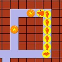 順番を考えて餌を食べさせるパズルゲーム「醜い蛇の子」